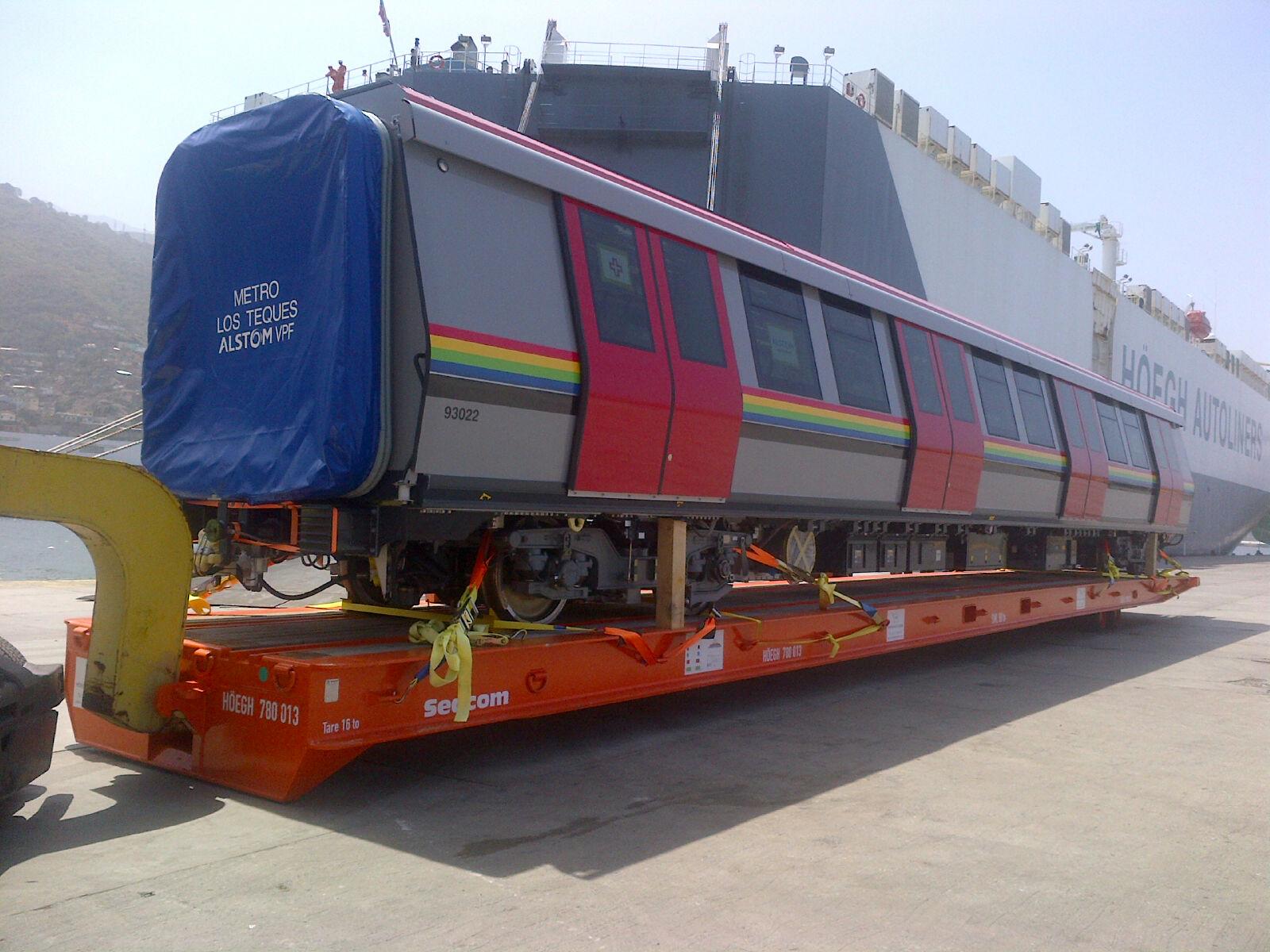 Ya en Venezuela el octavo tren Metrópolis para el Metro Los Teques