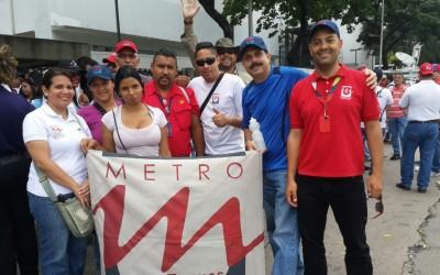Trabajadores una vez más se hicieron sentir en defensa de la Misión Transporte y la revolución