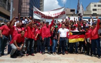 """Trabajadores dijeron """"presente"""" en marcha revolucionaria este sábado"""