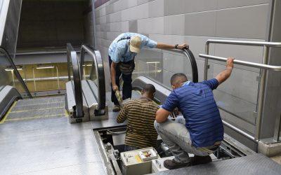 Metro Los Teques inicia plan de mantenimiento a escaleras mecánicas