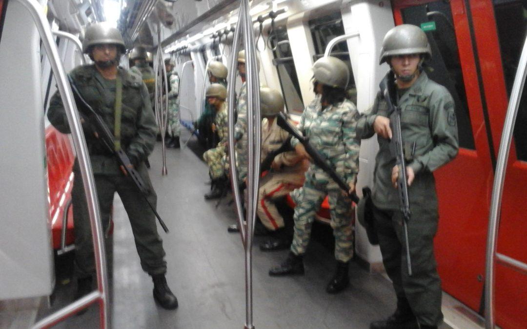 Ejercicio cívico militar fortalece defensa del sistema Metro Los Teques