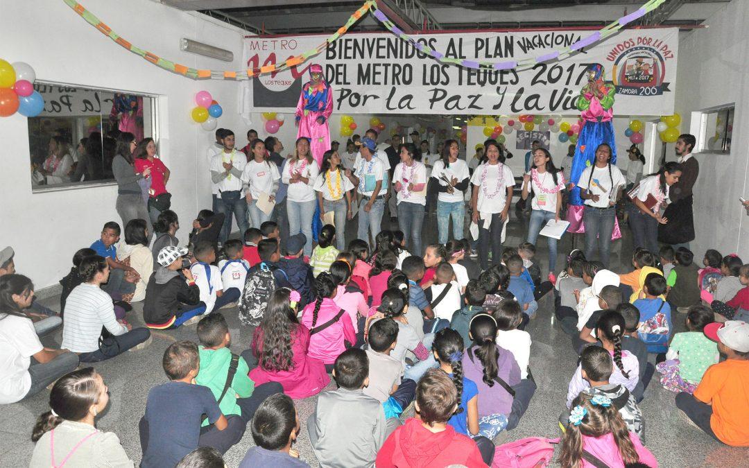 Más de 200 hijos de trabajadores de Metro Los Teques se benefician de Plan Vacacional