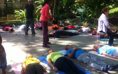 Clases de yoga terapéutico e integral en parque Villa Teola