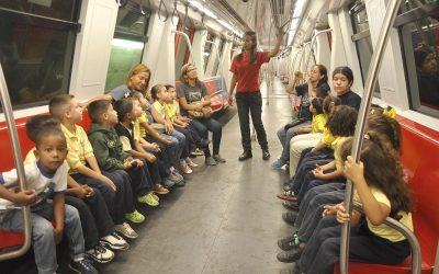Infantes de la Filomena Coronel aprendieron viajando en Metro Los Teques