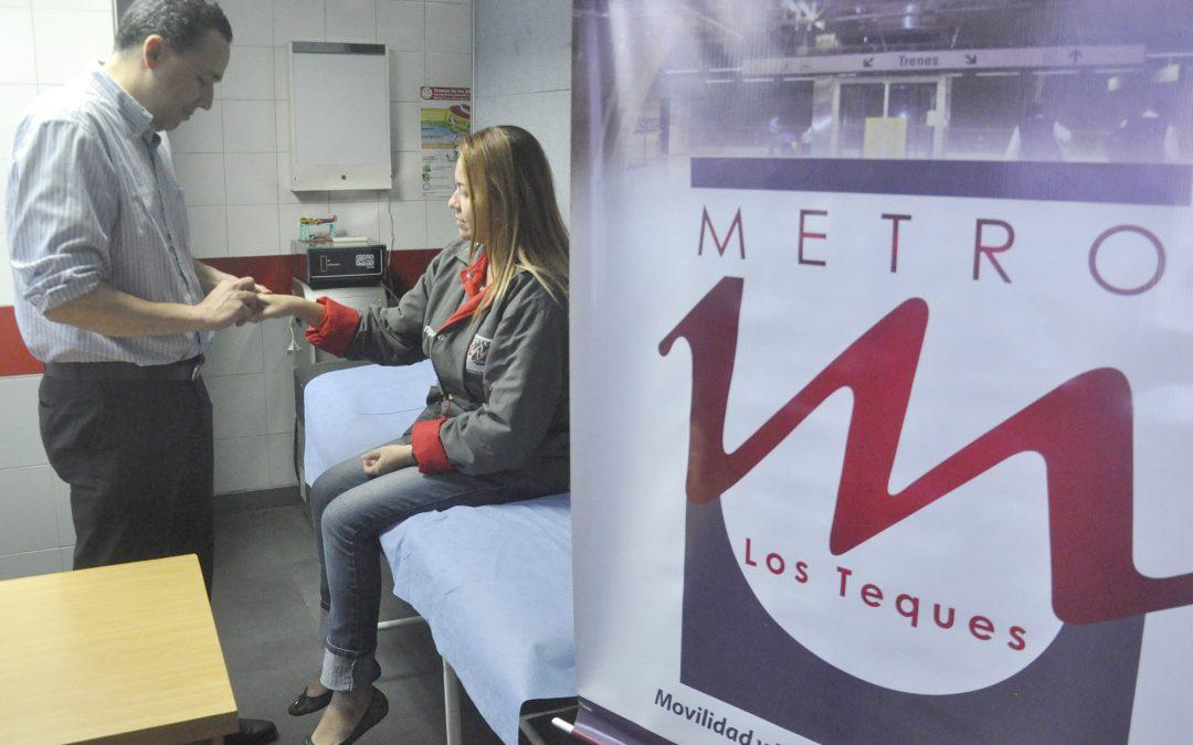 Trabajadores de Metro Los Teques reciben jornada de despistaje de artritis