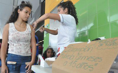 Aplicaron vacunas contra el Sarampión en la estación Alí Primera