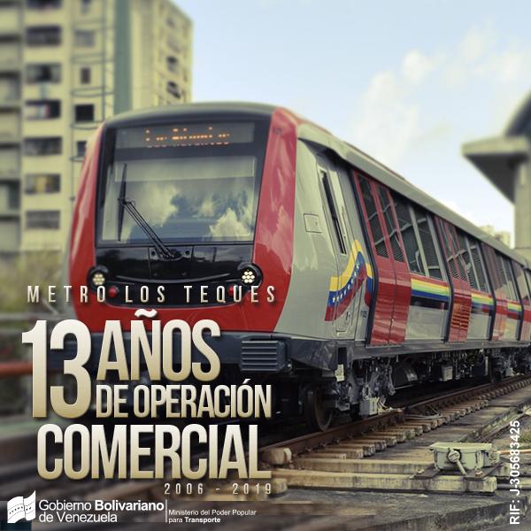 Metro Los Teques ha trasladado más de 184 millones de usuarios en sus 13 años de operaciones
