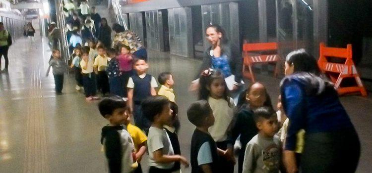 Con visita guiada pequeños del Colegio Los Arbacos recorrieron Metro Los Teques