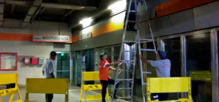 Metro de Los Teques mejora iluminación de la estación Guaicaipuro